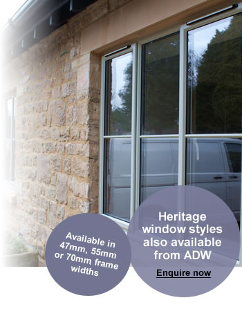 Casement aluminium  windows also available in heritage styles