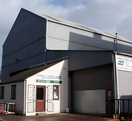 An image of the Amberley doors and windows factory