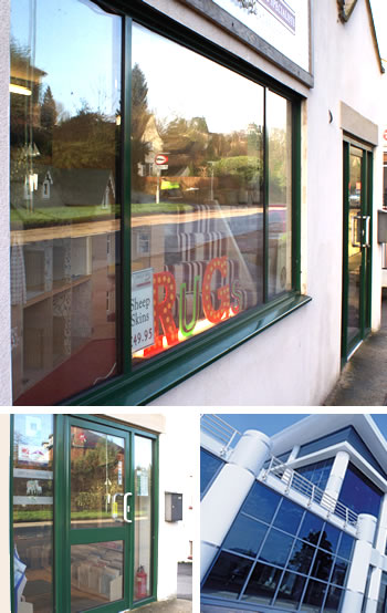 Aluminium shopfront images and curtain wall