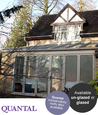 An aluminium conservatory roof replacement