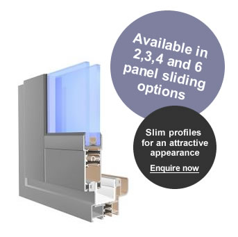 A section of an aluminium horizontal sliding windows
