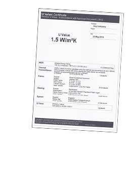 An example of an energy ratings certificate