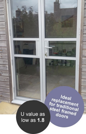 heritage aluminium doors ideal replacements for old steel framed doors